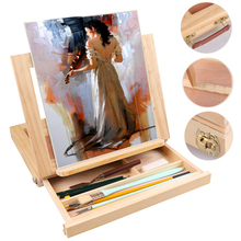 Professional easel for painting and Drawing Light Weight Foldable Wood stand easel great for Storage Or During Trips