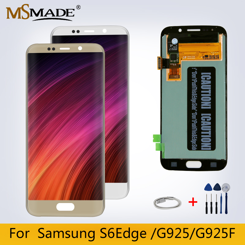 100% Original LCD For Samsung Galaxy S6 Edge G925 G925F LCD Display Touch Screen Digitizer Replacement Parts Free Shipping image