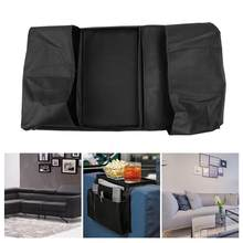 6 Pockets Sofa Couch Armrest Hanging Storage Organizer TV Remote Control Holder Practical Book Magazine Storage(China)