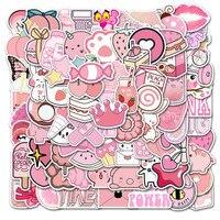 10/30/50/100Pcs/Set Nette rosa Graffiti Wasserdicht Skateboard Reise Koffer Telefon Laptop Gepäck aufkleber Nette Kinder Mädchen Spielzeug