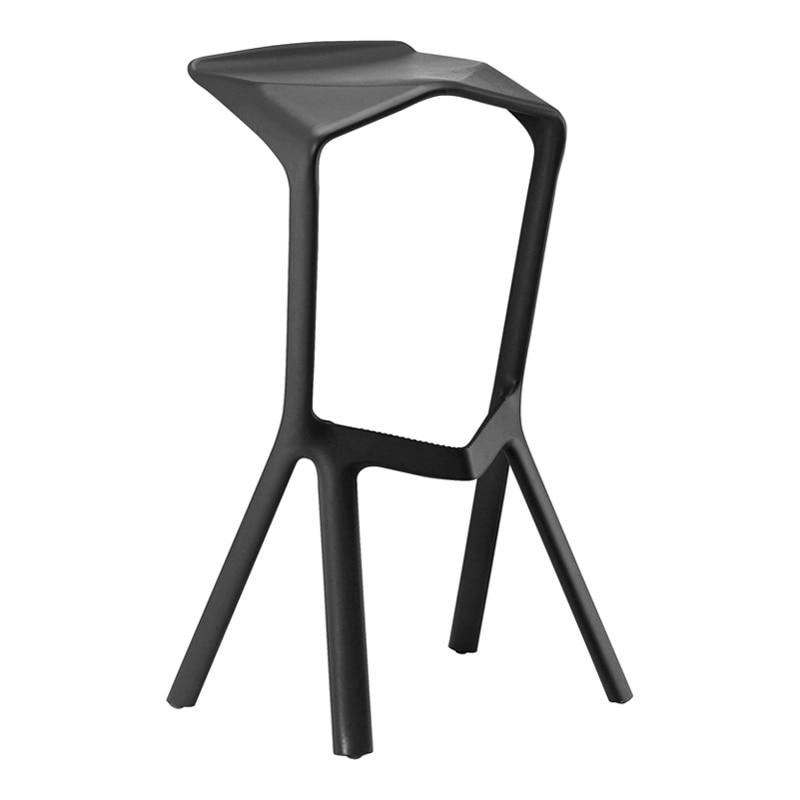 Simple High Bar Stool Personality Fashion Plastic Bar Chair Cafe Nordic Bar Stool Creative Hotel Bar Chair