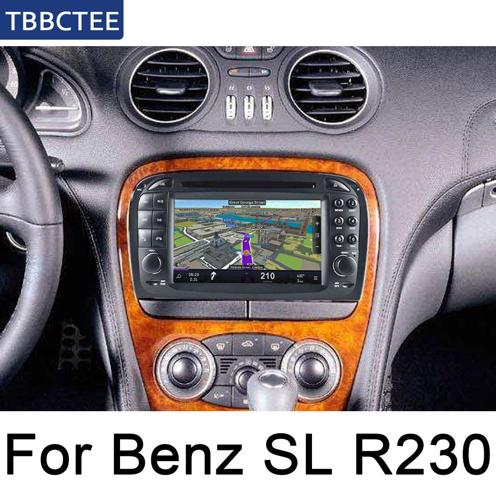 For Mercedes Benz SL R230 2001~2004 NTG Car Multimedia player Android GPS Auto radio Stereo System Navigation Map wifi Map image