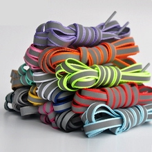 1 Pair Reflective Shoe laces Flat Shoelaces Fashion And Beautifult Unisex Shoelace Outdoor Leisure Sneaker lace 120cm