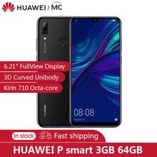 """الأصلي هواوي P الذكية 2019 6.21 """"FHD 3400mAh الهاتف المحمول Kirin710 الثماني النواة EMUI 9.0 NFC 3GB 64GB FCC LTE الهاتف المحمول"""