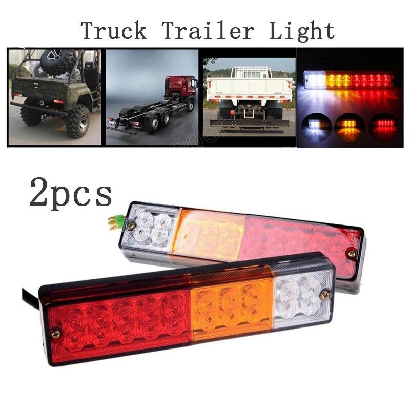 2 pces 12 v 20 led caminhão reboque luz traseira à prova dwaterproof água alta brighness lâmpada de gerencio indicador de sinal luz do caminhão luzes led