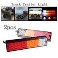 2 шт., 12 В, 20 светодиодов, задний фонарь для грузовика, прицепа, водонепроницаемый, высокая яркость, лампа, указатель поворота, световой индика...