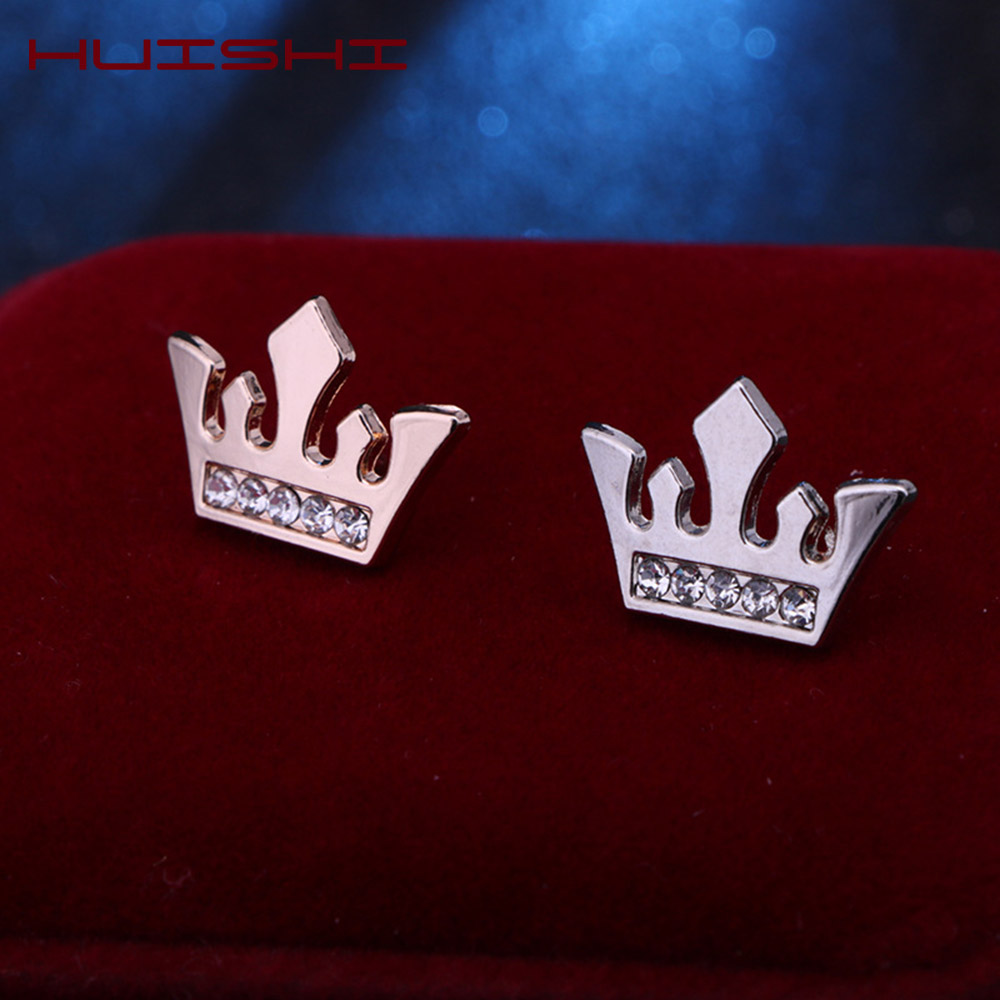 HUISHI Brooches For Men Vintage Fashion Triangle Shirt Collar Pin Hollowed Out Crown Leaf Badge Wedding Banquet Fashion Jewelry 5
