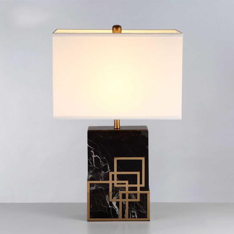 Настольная лампа в китайском стиле мраморный Настольный светильник тканевый