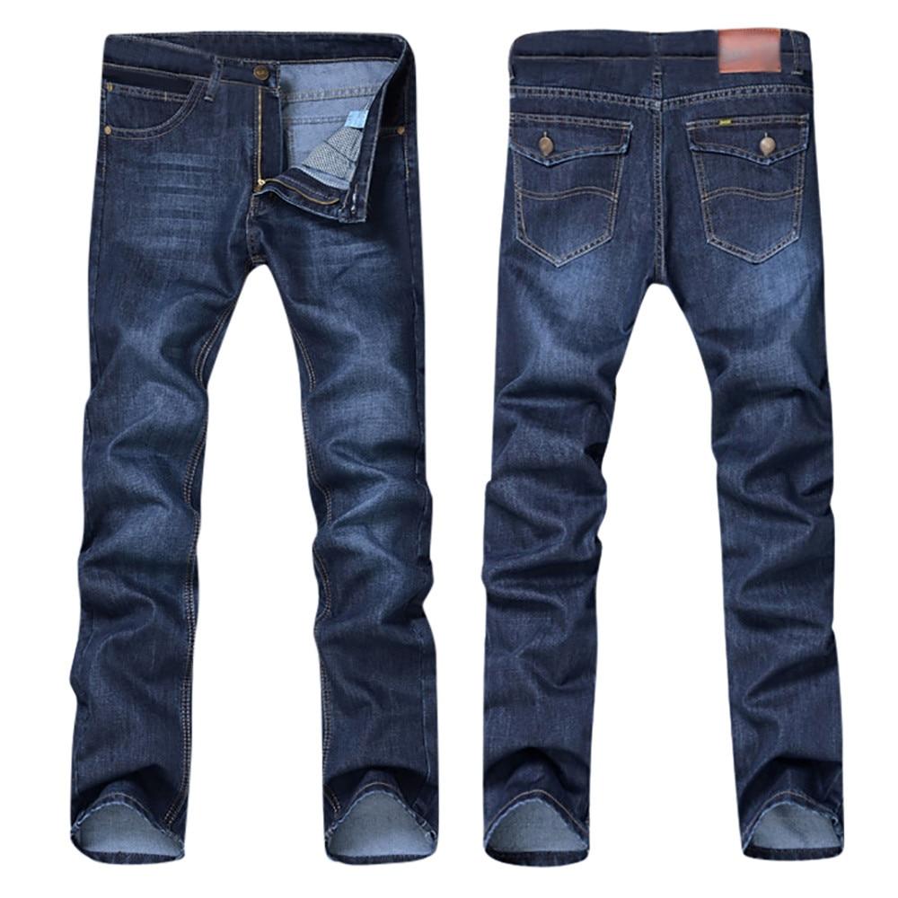 Men Denim Jeans Casual Autumn Winter Cotton Hip Hop Pants Male Loose Work Long Trousers Men Jeans Pants Slim Fit Denim 1
