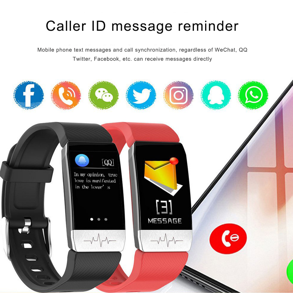 T1 Smart Waterproof Body Temperature Bracelet 24 Hour Temperature Monitoring Pulse And Sleep Monitoring LED IP67 Waterproof TPU