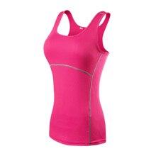 Yoga Shirt Sport Running  Quick Dry Vest High elasticity Tight fitting fitness Women GYM Clothing bodybuilding T shirt