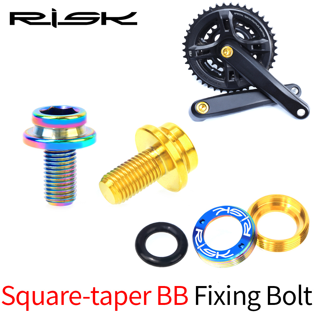 Crank Bolts with Alloy Dust Cap for Square Taper Cranksvarious colours