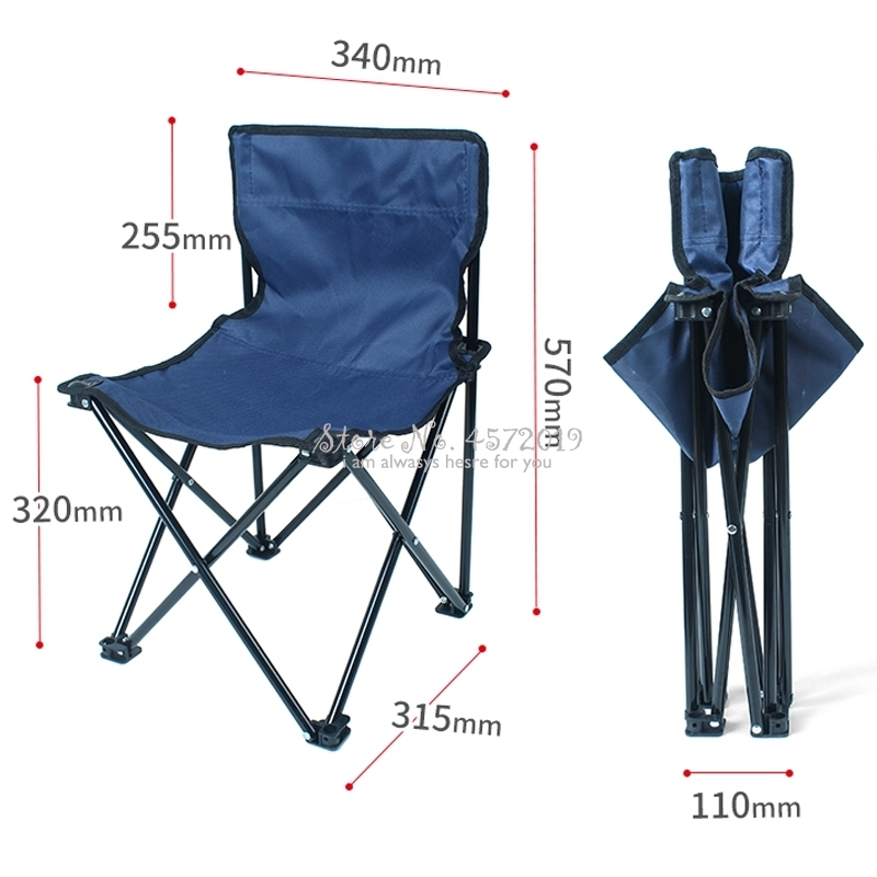 Portable Folding Beach Chair Outdoor Fishing Chair Lightweight Heavy Duty For Fishing Camping Mountaineering Hiking Travel