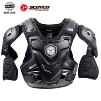 SCOYCO Motorcycle MX Armor Motocross Chest Back Protector Armour Vest Motorcycle Jacket Racing Protective Body Guard CE Armor