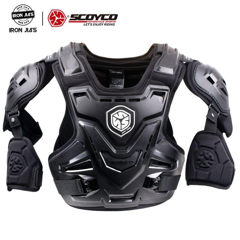 SCOYCO moto MX armure Motocross poitrine dos protecteur armure gilet moto veste course protection corporelle CE armure