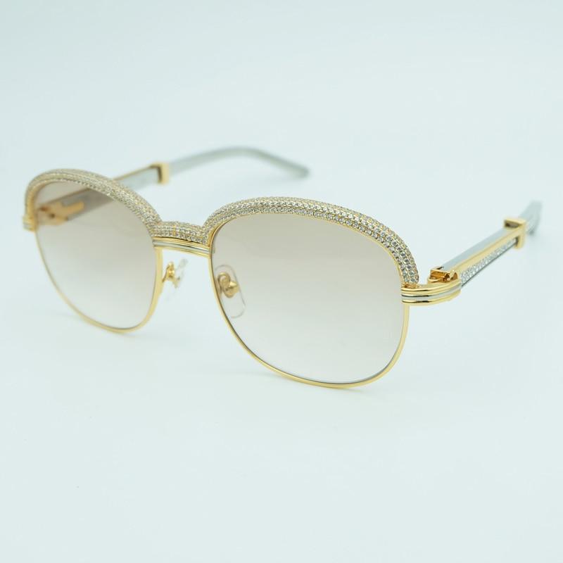 Diamond Sunglasses Men Carter Oval Sunglasses Women Stainless Steel Rhinestones Sunglass Vintage Women Sun Glasses
