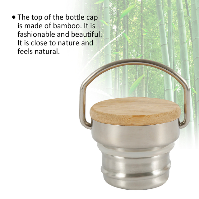 500/750/1000ML Portable Stainless Steel Water Bottle Bamboo Lid Sports Flasks Leak-proof Travel Cycling Hiking Camping Bottles 4