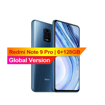 Перейти на Алиэкспресс и купить Глобальная версия Xiaomi Redmi Note 9 Pro 6 ГБ 128 NFC Смартфон 6,67 дюймSnapdragon 720G 64-мегапиксельная четырехъядерная камера 5020 мА/ч, 3,0 быстрой зарядки