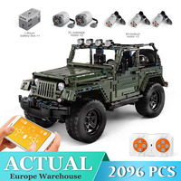 Mould King Technic Series RC Jeeps Wrangler Adventure Off road Vehicle Model Building Block Bricks Compatible 42110 Toy
