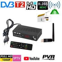Dvb t2 receptor tv digital terrestre sintonizador de tv h.265/hevc vídeo tv decodificador suporte europa espanha itália frança