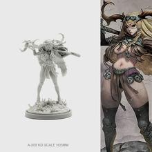 35mm żywiczne zestawy figurowe Model poroża leśna bogini samo-zmontowana A-209 tanie tanio Żywica 1 48 Dorośli Unisex