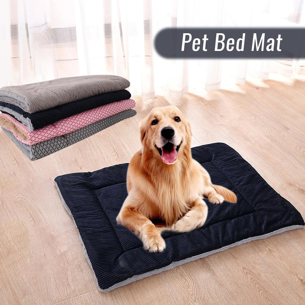 Large Dog Bed Mat Breathable Dog Beds Winter Thicken Warm Cat Dog Blanket Sleeping Cover Towel For Small Medium Large Dog House