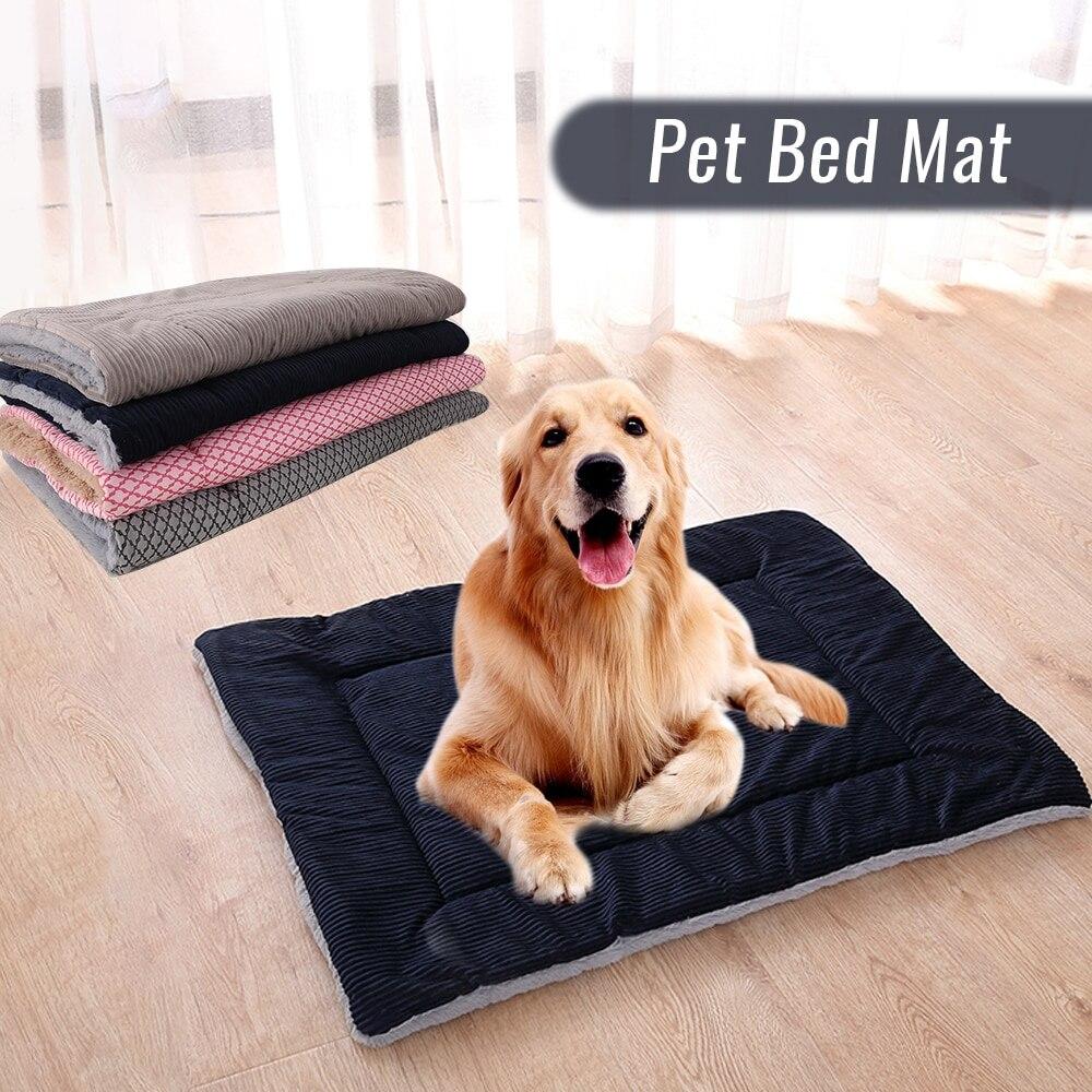 Большой коврик для собак, дышащие кровати для собак, зимнее плотное теплое одеяло для кошек и собак, спальный чехол, полотенце для маленьких средних и больших собак