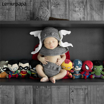 Newborn Baby PhotographyProps Clothes Cosplay Thor Costume Photo Props Hat + Cape Photograph Bebes Ropa Fotografie Photography movie thor ragnarok cosplay thor odinson costume men thor cosplay costume thor 3 outfit halloween carnival costume for adult