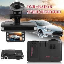 Vgr3 2 em 1 ventosa carro dvr traço cam gravador de vídeo do veículo automático voz alerta aviso radar detector x k ka banda versão