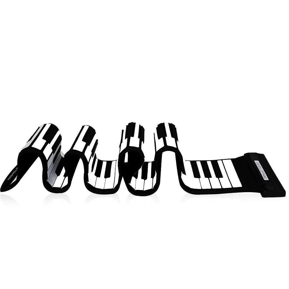 USB 88 مفاتيح ميدي نشمر لوحة مفاتيح البيانو الإلكترونية سيليكون مرنة المهنية