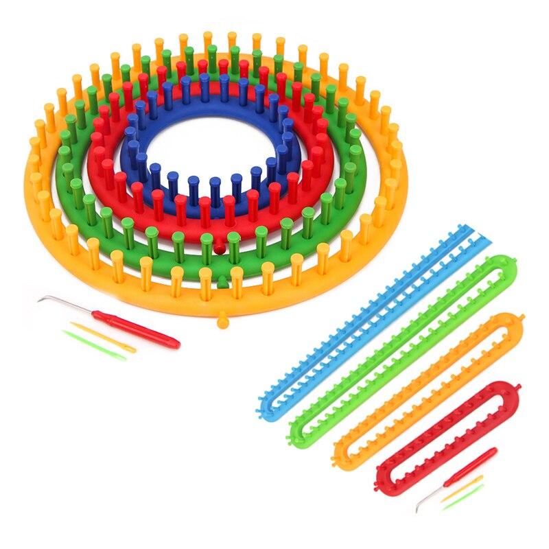 1 набор прямоугольный круглый вязальный станок «сделай сам» шарф свитер шапка шаль шитье Вязание ручной работы плетение Инструмент