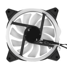 RGB Chassis Fan 120mm Cooling Cooler Fan with Controller for Computer Discoloration Colorful Cooling Chassis Fan(China)