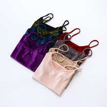 Женский тонкий сексуальный бархатный короткий топ, летняя мода, повседневный женский жилет, женская блуза, укороченные топы, топик