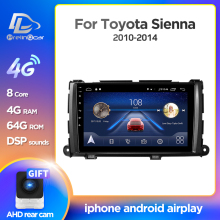 Prelingcar Android 10 Für Toyota Sienna XL30 2010-2014 Auto Radio Multimedia Video Player GPS Navigation KEINE DVD-2 din Octa-Core