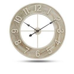 60cm relógio de parede do vintage de luxo grandes relógios parede mudo sala estar bar decoração casa grande relógio na parede quartzo wandklok