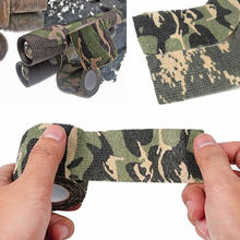 5cm*4.5m Army Camo Outdoor Hunting Shooting Tool Camouflage Stealth Tape Waterproof Accessories  Durable