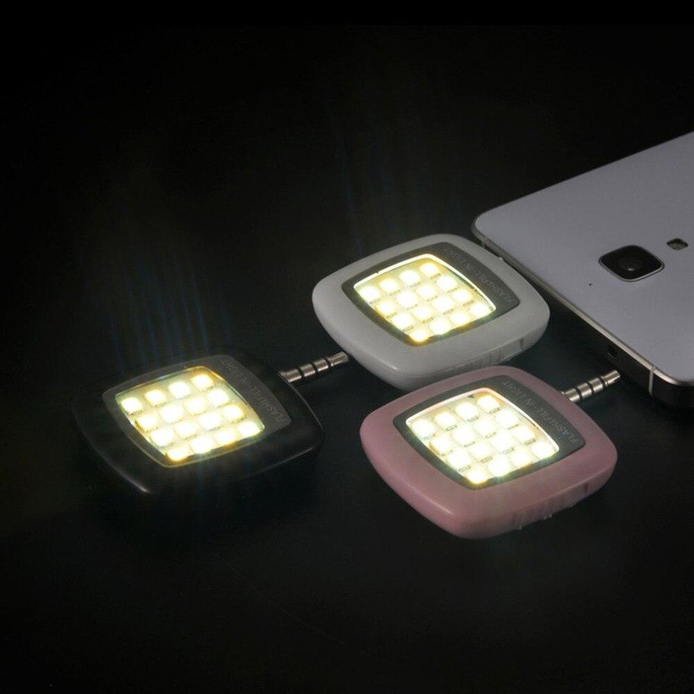 16pcs LED Mini Flash Fill Light Bright LEDS Video Light Lamp Suitable For Mobile Phone Selfie Brightness Photography Lamp 3.5mm