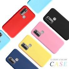 Funda Original para VIVO Y50 Y30 carcasa trasera de silicona líquida carcasa suave para teléfono Simple Coque para VIVO Y 50 Y 30 VIVOY50 2020 bolsa