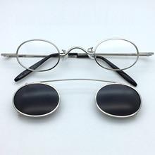 Zerosun Clip Sunglasses Men Women Small Oval Glasses Narrow Fit-over Spectacles Steampunk Eyewear