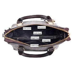 Image 4 - YIZHONG אופנה Lettet נשים כתף תיק שליח שקיות גדול קיבולת עור ארנקי תיקי מצמד גבירותיי יד שקיות