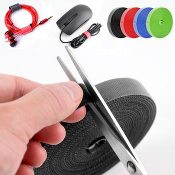 Ankndo do zarządzania kablami Organizer na kable USB drutu uzwojenia uchwyt na słuchawki przewód myszy uchwyt na słuchawki uchwyt na PC zacisk Protector tanie i dobre opinie CN (pochodzenie) Z tworzywa sztucznego cable winder 0 5m 1m 3m 5m Black Blue Red Green wire organizer kabel organizer cord organizer