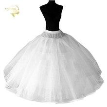 8 Lagen Harde Tule Onderrok Bruiloft Accessoires Chemise Zonder Hoepels Voor Een Lijn Trouwjurk Breed Puffy Petticoat Crinoline
