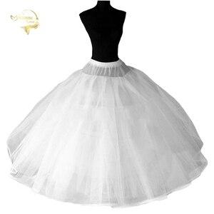 Image 1 - 8 слойная жесткая Нижняя юбка из тюля, свадебные аксессуары, сорочка без швов для свадебного платья, широкая пышная Нижняя юбка кринолин