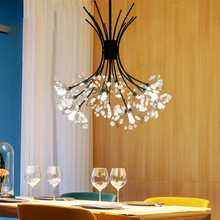 цена Creative Chandelier Post Modern Restaurant Clothing Store Bar Counter Staircase Mall Dandelion Crystal Chandelier онлайн в 2017 году