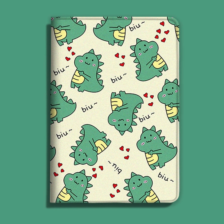 Cartoon Lovely Dinosaur Luxury PU Leather Case For IPad 9.7 Air 1/2/3 IPad 10.2 10.5 Stander Slim Cover For IPad 234 Mini 12345