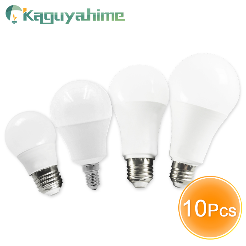 Kaguyahime 10Pcs <font><b>LED</b></font> E14 <font><b>LED</b></font> Light E27 <font><b>LED</b></font> Bulb 20W <font><b>15W</b></font> 12W 9W 6W 3W AC <font><b>220V</b></font> 240V <font><b>LED</b></font> Spotlight Lamp Bombilla Lighting Lampada image