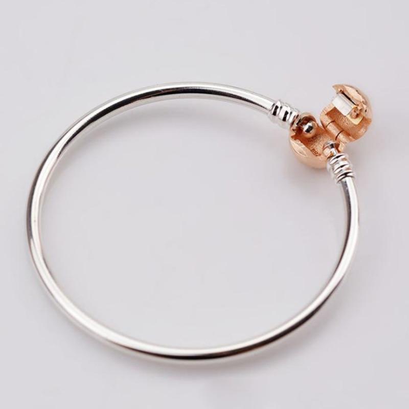 GChic S925 Charm สร้อยข้อมือฐานช่วงเวลา Rose Gold กำไลข้อมือสำหรับ Pandora ผู้หญิง DIY Dangle Charms แฟชั่นเครื่องประดับสร้อยข้อมือ