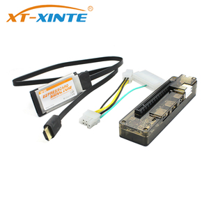 XT-XINTE PCIE EXP GDC External Laptop Video Card Dock Graphics Card Docking for Beast Mini PCI-E / for NGFF M.2 / Expresscard