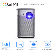 XGIMI Halo Full HD Mini projektor DLP Android 9.0 Wifi przenośna obsługa 4K wideo TV 3D kino domowe z baterią Google OS Beamer
