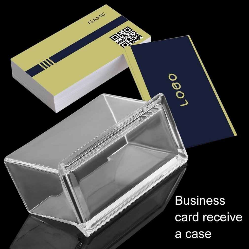 Trasparente PMMA Biglietto Da Visita Holder Display Stand Desk Desktop di Controsoffitto Biglietto Da Visita Holder Desk Box Mensola